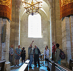VMI Vincentian Heritage Tour: Members of the Vincentian Mission Institute cohort tour the Basilica of St. Sernin in Toulouse, France Sunday, April 26, 2016. (DePaul University/Jamie Moncrief)