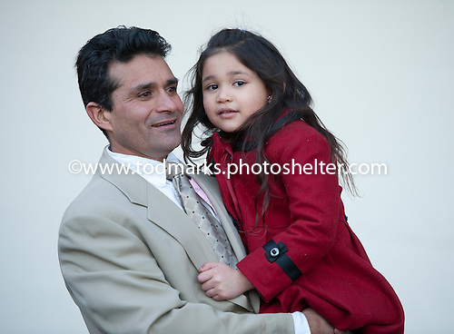 Vyjack's trainer Rudy Rodriguez celebrates Jerome win with daughter Megan at Aqueduct on Jan. 5.