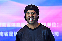 15th November 2019, Changsha City, China;   Brazilian former professional footballer Ronaldo de Assis Moreira shows up at a press conference, for the Legend Footballer Challenge in Changsha city, central Chinas Hunan province