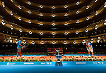 Spanish player Rafael Nadal and David Ferrer   poses for a photographers at the Barcelona Open tennis tournament Conde de Godo on the Gran Teatre del Liceu in Barcelona.    <br /> photocall3000 / pd
