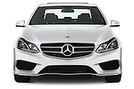 Straight front view of a 2014 Mercedes E350 Sedan