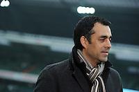 FUSSBALL   1. BUNDESLIGA   SAISON 2011/2012   19. SPIELTAG Werder Bremen - Bayer 04 Leverkusen                    28.01.2012 Trainer Robin Dutt (Bayer 04 Leverkusen)