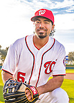 28 February 2016: Washington Nationals infielder Anthony Rendon poses for his Spring Training Photo-Day portrait at Space Coast Stadium in Viera, Florida. Mandatory Credit: Ed Wolfstein Photo *** RAW (NEF) Image File Available ***