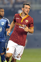 Sporting Park, Kansas City, Kansas, July 31 2013:<br /> Alessandro Florenzi (24) AS Roma.<br /> MLS All-Stars were defeated 3-1 by AS Roma at Sporting Park, Kansas City, KS in the 2013 AT & T All-Star game.