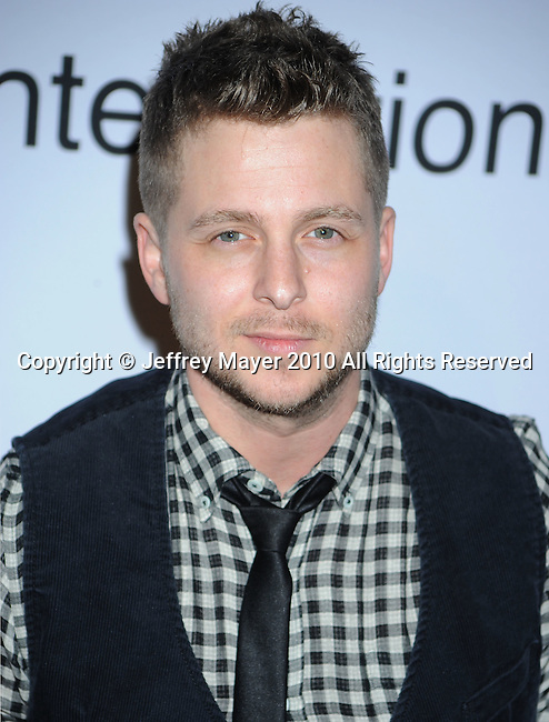 "BEVERLY HILLS, CA. - January 30: Musician Ryan Tedder of ""One Republic arrives at the 52nd Annual GRAMMY Awards - Salute To Icons Honoring Doug Morris held at The Beverly Hilton Hotel on January 30, 2010 in Beverly Hills, California."