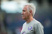 Orlando, FL - Sunday July 10, 2016: Tom Sermanni prior to a regular season National Women's Soccer League (NWSL) match between the Orlando Pride and the Boston Breakers at Camping World Stadium.