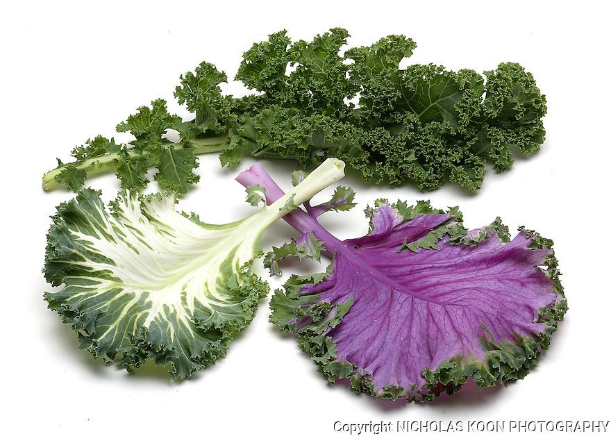 Kale still life.