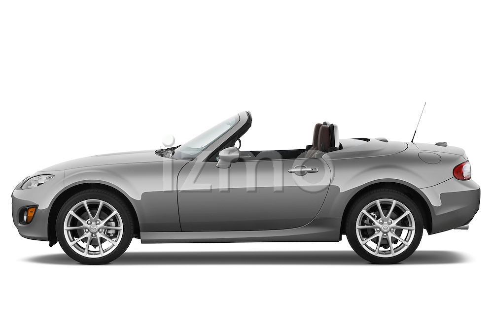Passenger side profile view of a 2010 Mazda Miata MX5.
