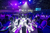 Picture by Allan McKenzie/SWpix.com - 05/10/17 - Cricket - Yorkshire County Cricket Club Gala Dinner 2017 - Elland Road, Leeds, England - General view, gv, room setup.