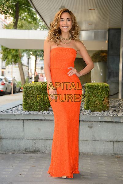 LONDON, ENGLAND - SEPTEMBER 30: Myleene Klass presents her latest fashion, lingerie &amp; beauty collections for Littlewoods.com at the Sanderson Hotel on September 30, 2014 in London, England. <br /> CAP/CJ<br /> &copy;Chris Joseph/Capital Pictures