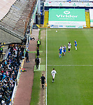 Barnet take a throw in in front of The Danny Bergara Stand. Stockport County v Barnet, 07032020. Edgeley Park, National League. Photo by Paul Thompson.