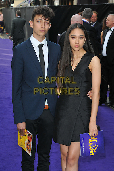 Jayden Revri &amp; Jade Alleyne at the &quot;Disney's Aladdin&quot; press night, Prince Edward Theatre, Old Compton Street, London, England, UK, on Wednesday 15 June 2016.<br /> CAP/CAN<br /> &copy;CAN/Capital Pictures