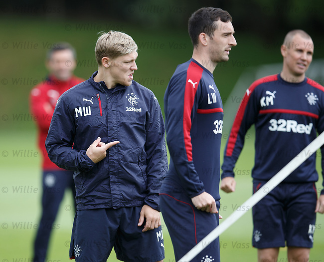 Martyn Waghorn and Lee Wallace