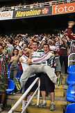 BRAZIL, Rio de Janiero, fans cheer and celebrate within Joao Havelange or Engenhao stadium, Flumanense vs Gremio