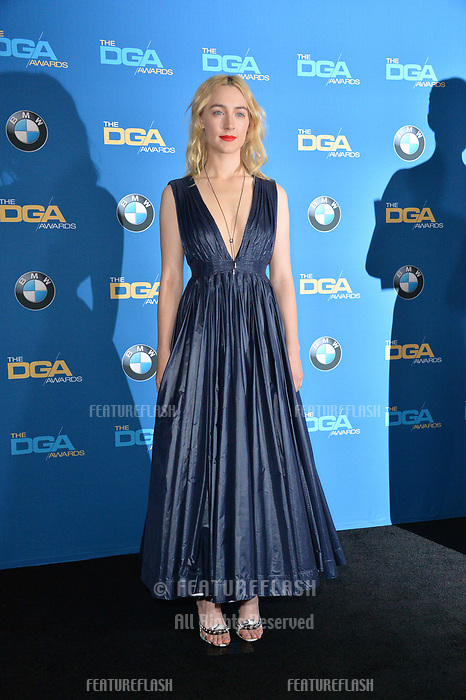 Saorise Ronan at the 70th Annual Directors Guild Awards at the Beverly Hilton Hotel, Beverly Hills, USA 03 Feb. 2018<br /> Picture: Paul Smith/Featureflash/SilverHub 0208 004 5359 sales@silverhubmedia.com