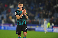 Ben Wilmot of Swansea City applauds the fans at the final whistle during the Sky Bet Championship match between Huddersfield Town and Swansea City at The John Smith's Stadium in Huddersfield, England, UK. Tuesday 26 November 2019