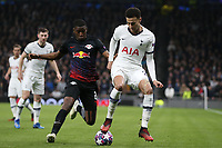 /Nordi Mukiele of RB Leipzig  and Dele Alli of Tottenham Hotspur during Tottenham Hotspur vs RB Leipzig, UEFA Champions League Football at Tottenham Hotspur Stadium on 19th February 2020