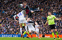 Leeds United's Tyler Roberts collides with Sheffield United's Dean Henderson<br /> <br /> Photographer Alex Dodd/CameraSport<br /> <br /> The EFL Sky Bet Championship - Leeds United v Sheffield United - Saturday 16th March 2019 - Elland Road - Leeds<br /> <br /> World Copyright © 2019 CameraSport. All rights reserved. 43 Linden Ave. Countesthorpe. Leicester. England. LE8 5PG - Tel: +44 (0) 116 277 4147 - admin@camerasport.com - www.camerasport.com