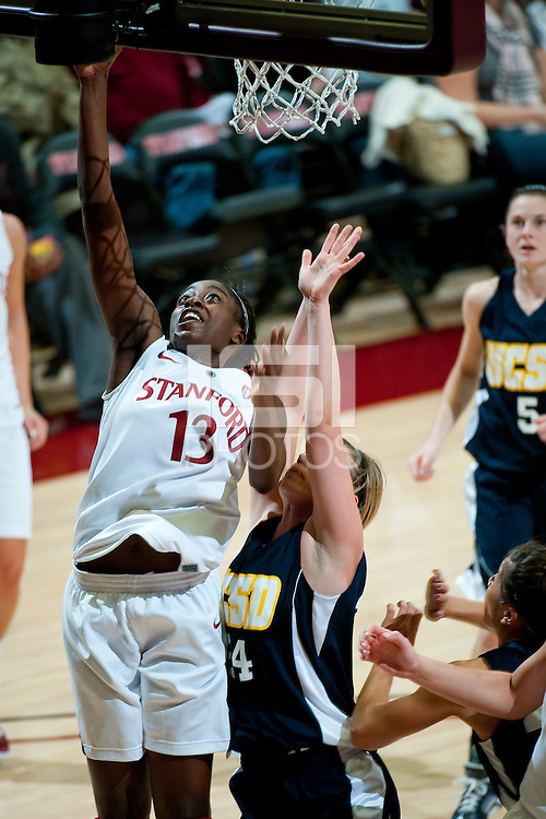 STANFORD, CA - NOVEMBER 9: Chiney Ogwumike at Maples Pavilion, November 9, 2010 in Stanford, California.
