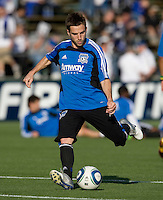Bobby Convey of Earthquakes warms up before the game against Real Salt Lake at Buck Shaw Stadium in Santa Clara, California on March 27th, 2010.   Real Salt Lake defeated San Jose Earthquakes, 3-0.
