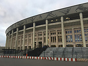 28th August 2017, Moscow, Russia; An outside view of the Luzhniki Stadium in Moscow, Russia. The Luzhniki is the most important stadium of the football World Cup 2018 in Russia. Since 2013 it has been renovated extensively.