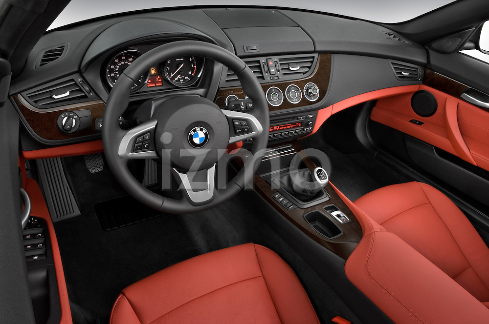 High angle dashboard view of a 2009 BMW Z4 3.0i