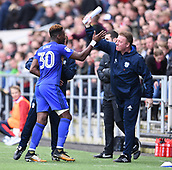 4th November 2017, Ashton Gate, Bristol, England; EFL Championship football, Bristol City versus Cardiff City; Omar Bogle of Cardiff City celebrates with Ronnie Jepson of Cardiff City after scoring Cardiff City's first goal