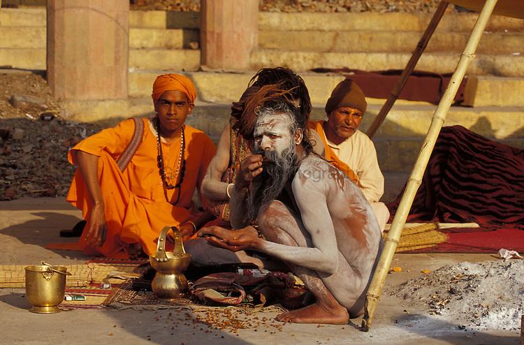 Naga Shadu in Alahabad at khumb mela religios festival