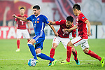 Manuel Bleda Rodriguez (l) of Eastern SC fights for the ball with Liao Lisheng of Guangzhou Evergrande FC during their AFC Champions League 2017 Match Day 1 Group G match between Guangzhou Evergrande FC (CHN) and Eastern SC (HKG) at the Tianhe Stadium on 22 February 2017 in Guangzhou, China. Photo by Victor Fraile / Power Sport Images