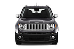 Car photography straight front view of a 2018 Jeep Renegade Limited 5 Door SUV