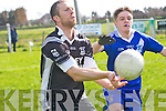Daniel Casey (Ardfert) in action with Killian Nolan (St Marys)  in the County League Division 3 Round 2 at Ardfert GAA Grounds on Sunday.