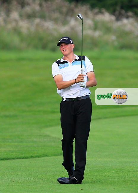Gabriel Axell (SWE) on the 6th fairway during Round 1 of the Made in Denmark 2016 at the Himmerland Golf Resort, Farso, Denmark on Thursday 25th August 2016.<br /> Picture:  Thos Caffrey / www.golffile.ie<br /> <br /> All photos usage must carry mandatory copyright credit   (&copy; Golffile | Thos Caffrey)