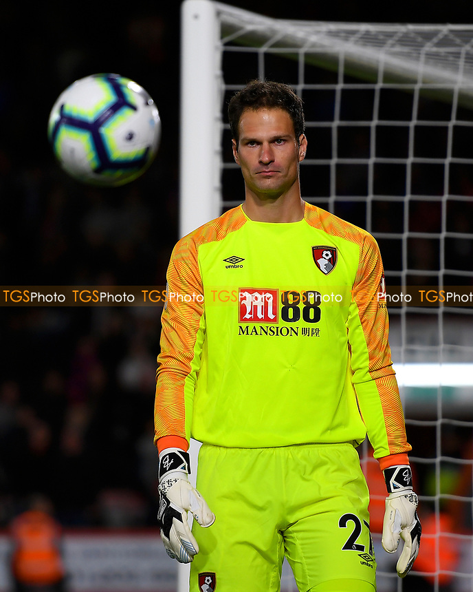 Asmir Begovic of AFC Bournemouth during AFC Bournemouth vs Crystal Palace, Premier League Football at the Vitality Stadium on 1st October 2018