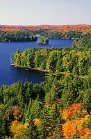 Canada,Ontario,Algonquin Park. Cache Lake in Autumn