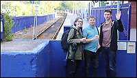 BNPS.co.uk (01202 558833)<br /> Pic: AllTheStations/BNPS<br /> <br /> St Ives station.<br /> <br /> A pair of railway enthusiasts are on an epic train journey to become the first people to visit every station in Britain. <br /> <br /> Eccentrics Geoff Marshall, 44, and Vicki Pipe, 34, are three weeks into the adventure, which will see them visit 2,563 stations in just three months. <br /> <br /> The couple of seven years from London began in Penzance and have already visited 750 stations, covering the entire South, South West and much of London. <br /> <br /> After visiting an average of 30 stations per day their trip will conclude in August in Thurso, the British mainland's most northernmost town.