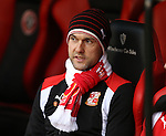 Luke Williams manager of Swindon during the English League One match at Bramall Lane Stadium, Sheffield. Picture date: December 10th, 2016. Pic Simon Bellis/Sportimage