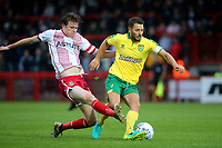 Wes Hoolahan of Norwich City tries to shield the ball from Stevenage's James Ferry during Stevenage vs Norwich City, Friendly Match Football at the Lamex Stadium on 11th July 2017