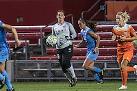 Bridgeview, IL - Saturday July 23, 2016:  Chicago Red Stars goalkeeper Michele Dalton (18) during a regular season National Women's Soccer League (NWSL) match between the Chicago Red Stars and the Houston Dash at Toyota Park.