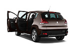 Rear three quarter door view of a 2014 Peugeot 3008 5 Door SUV 2WD