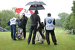 Vijay Singh and Jean Van De Velde wait to tee up on the 2nd hole during the final round of the BMW PGA Championship at Wentworth Club, Surrey, England 27th May 2007 (Photo by Eoin Clarke/NEWSFILE)