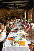 wine tasting in a restaurant restaurant au boeuf rouge andlau alsace france