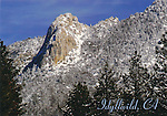 FB-S111 Idyllwild, CA.  Lily Rock in winter.