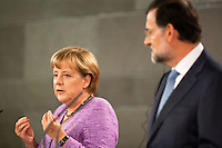 Angela Merkel and Mariano Rajoy Meeting at Moncloa