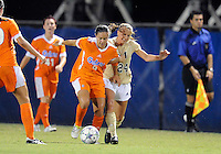 Florida International University women's soccer player Cortney Bergin (24) plays against the University of Florida on August 21, 2011 at Miami, Florida. Florida won the game 2-0. .