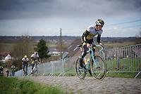 Sep Vanmarcke (BEL/LottoNL-Jumbo) up the Paterberg during the Ronde van Vlaanderen 2016 recon