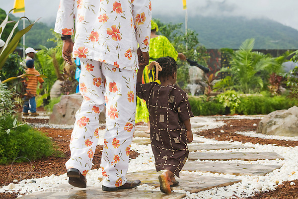 Father and daughter hand in hand ,Emancipation Day