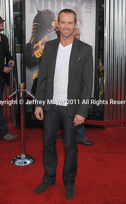 """UNIVERSAL CITY, CA - OCTOBER 02: Gunner Wright attends the """"Real Steel"""" Los Angeles Premiere at Gibson Amphitheatre on October 2, 2011 in Universal City, California."""
