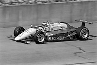 BROOKLYN, MI - SEPTEMBER 22: Michael Andretti drives the Maurice Kraines March 85C/Cosworth during the Detroit News 200 CART Indy Car race at the Michigan International Speedway near Brooklyn, Michigan, on September 22, 1985.