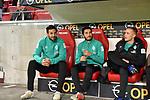 04.11.2018, Opel-Arena, Mainz, GER, 1 FBL, 1. FSV Mainz 05 vs SV Werder Bremen, <br /> <br /> DFL REGULATIONS PROHIBIT ANY USE OF PHOTOGRAPHS AS IMAGE SEQUENCES AND/OR QUASI-VIDEO.<br /> <br /> im Bild: Die Bank mit Claudio Pizarro (SV Werder Bremen #4), Nuri Sahin (SV Werder Bremen #17) und Johannes Eggestein (SV Werder Bremen #24)<br /> <br /> Foto © nordphoto / Fabisch