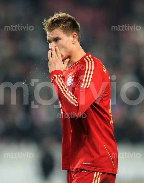 Fussball 1. Bundesliga:  Saison   2011/2012    16. Spieltag VfB Stuttgart - FC Bayern Muenchen  11.12.2011 Holger Badstuber (FC Bayern Muenchen)